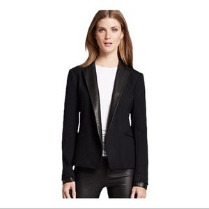 Theory Women's Leather Trimmed Leandria Blazer